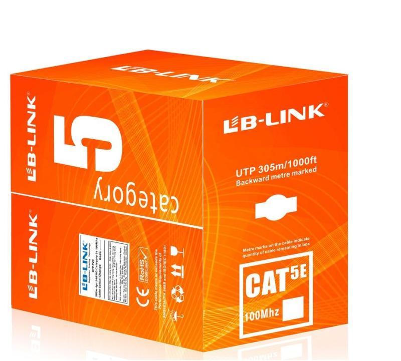 Bảng giá Cuộn dây cáp mạng LB-LINK Cat5e UTP (CCA BR) 305m cam Phong Vũ