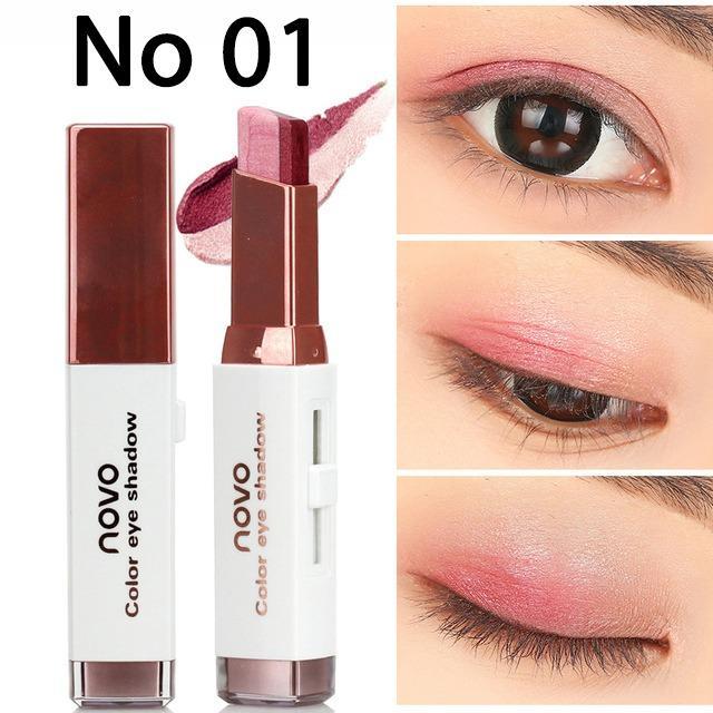 [Có Mã Giảm Giá] Phấn mắt dạng thỏi Novo Eyeshadow Stick 2 line No.5099 - 6 màu tiện lợi 3.8g - TinderShop