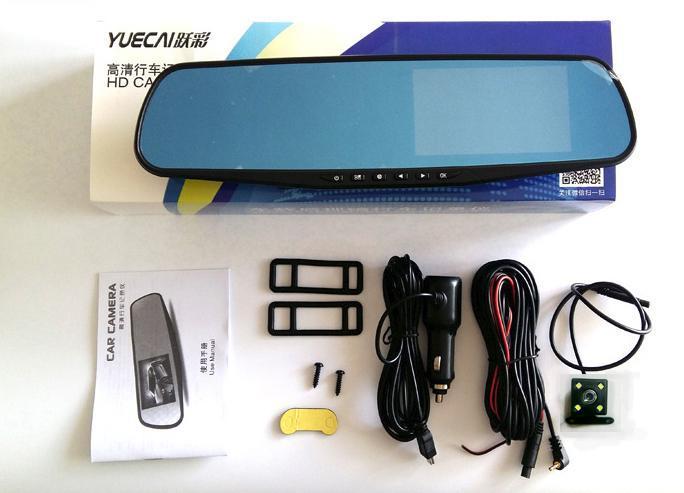 Hình ảnh Gương chiếu hậu Camera hành trình tích hợp camera lùi Vehicle BlackBox fullHD 1080