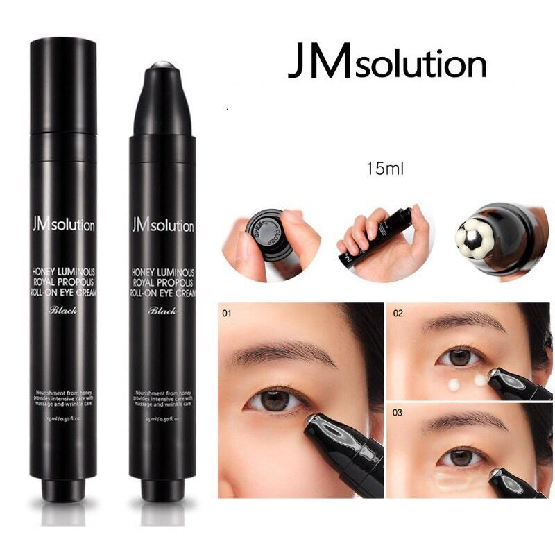 Lăn Dưỡng Mắt Chuyên Sâu Jm Solution Roll On Eye Cream 15ml # Honey Luminous Royal - Đen