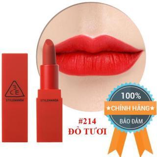 Son Lì 3CE Red Recipe Matte Lip Color 214 Squeezing - Màu Đỏ Tươi - Chính Hãng 100%. thumbnail