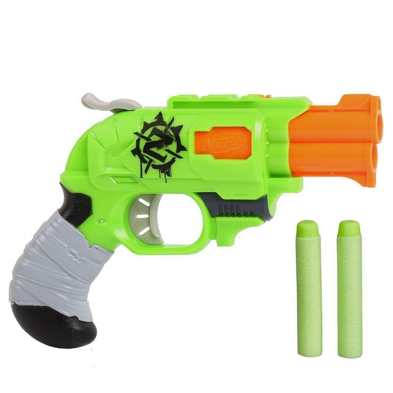 Hình ảnh Đồ chơi trẻ em vận động Nerf Zombie DoubleStrike + Tặng 1 túi 10 thanh xốp