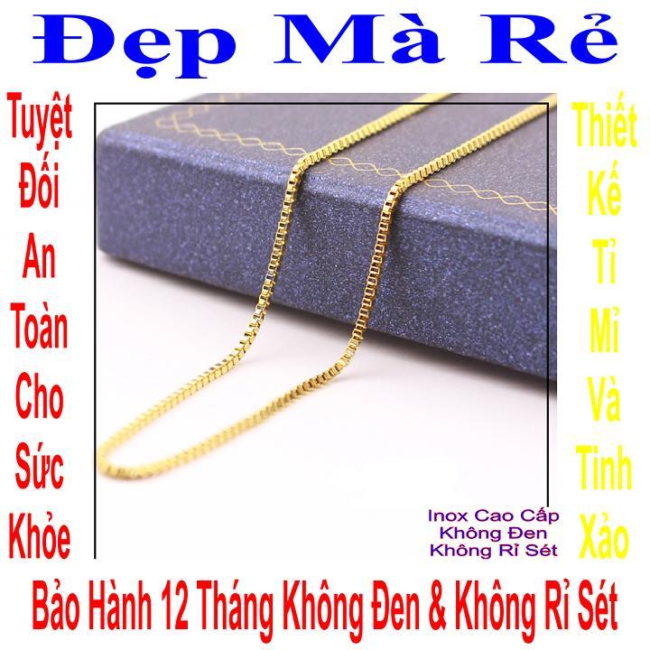 Giá bán Dây chuyền trẻ em inox Đẹp Mà Rẻ kiểu ô vuông chữ nhật - DCTE00256V030059
