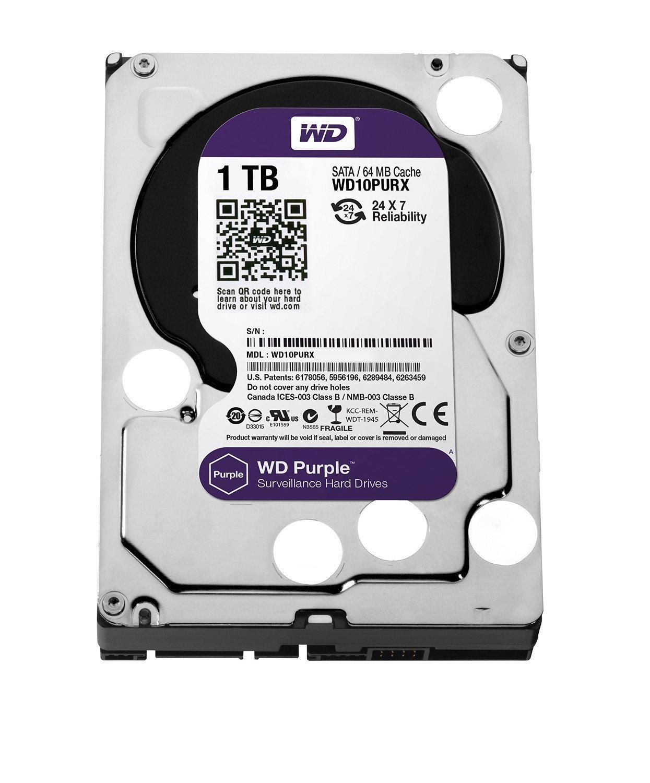 Hình ảnh Ổ cứng gắn trong HDD Western Digital Purple 1TB, SATA 3, 64 Cache - Ổ cứng chuyên dụng cho Camera