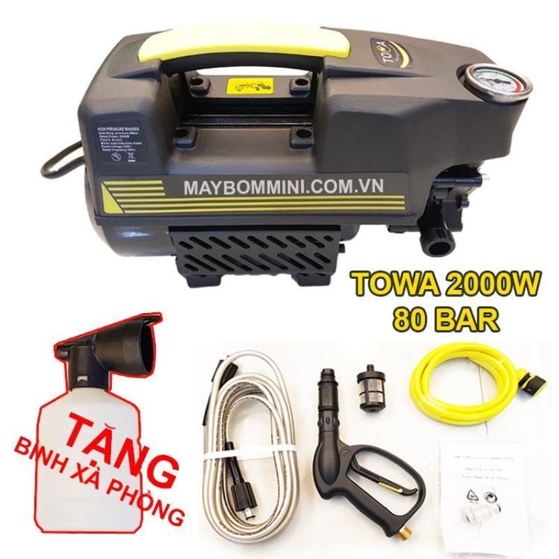 Máy xịt rửa xe áp vệ sinh lực cao 220V 2KW TOWA tự động tiện lợi