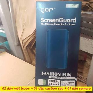 Bộ 3 miếng dán dẻo GOR 3D cho Samsung Note 8 (dán full màn hình) thumbnail