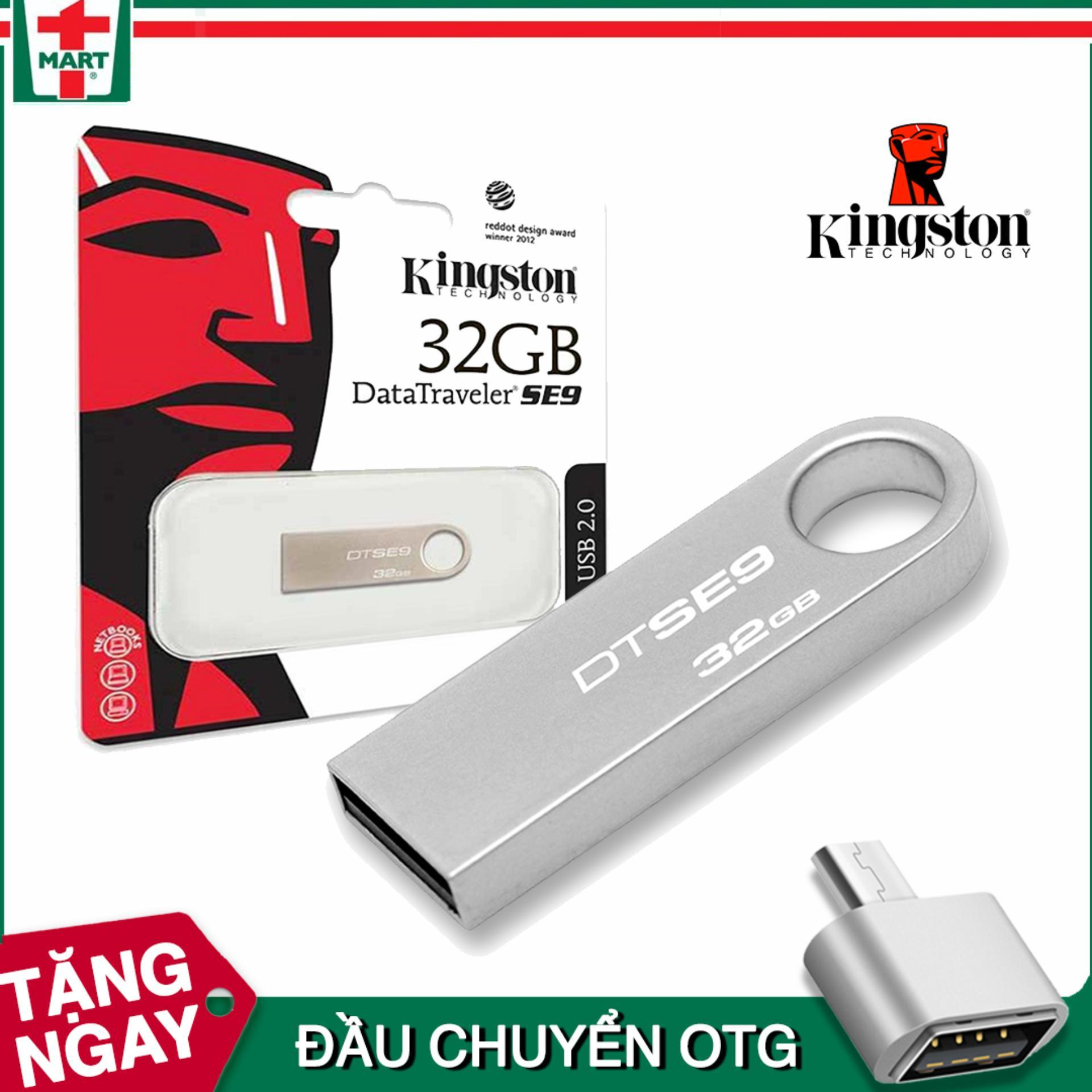 USB 32GB Thương Hiệu Kingston (Màu Bạc) Vỏ Kim Loại Tặng OTG Đang Có Giảm Giá