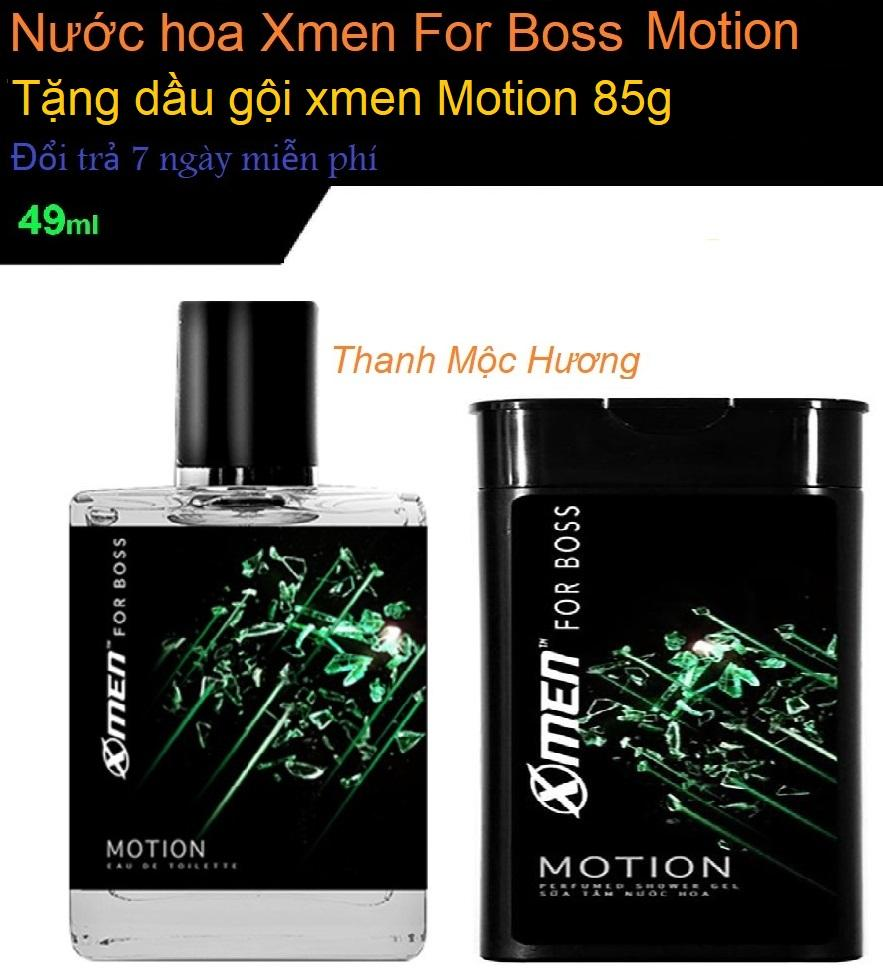 Nước hoa xmen for Boss Motion 2018 tặng kèm 85g dầu gội Xmen Motion