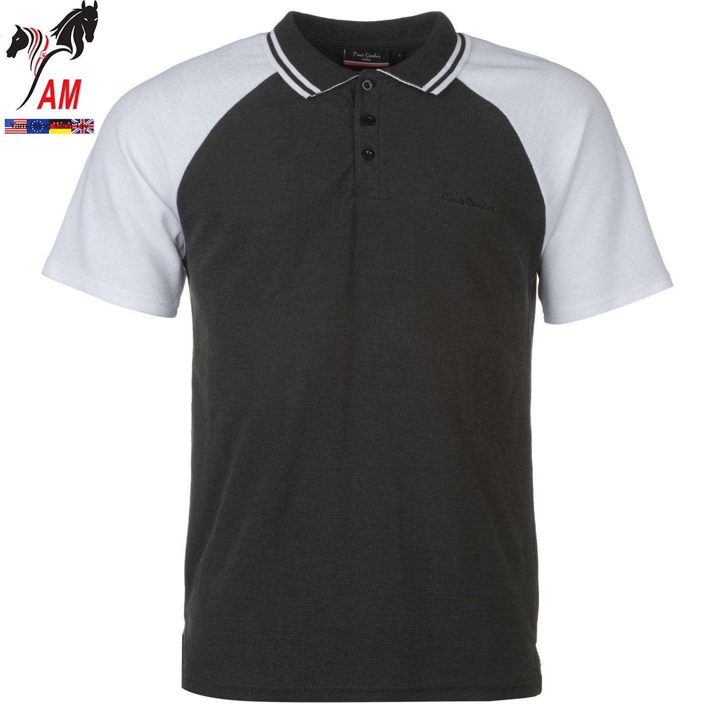 Ôn Tập Tốt Nhất Ao Thun Pierre Cardin Raglan Polohemd Herren White Black