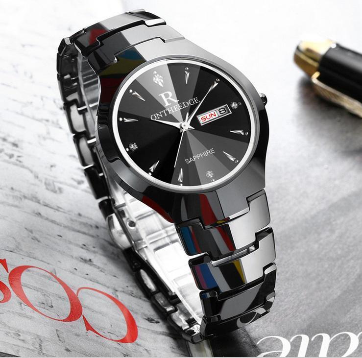 Đồng hồ nam khóa bướm dây đá đặc AH-DH004 phong cách doanh nhân sang trọng(Cập nhật 2019)