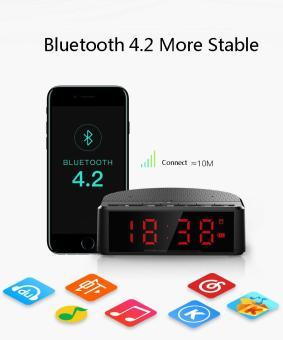 Hàng mới về Loa Bluetooth Giá Rẻ - Phân phối Loa Bluetooth mini MX17 kiêm  đồng hồ báo thức thiết kế thông minh tinh tế,bluetooth 4.2, pin cực khủng,  âm ...