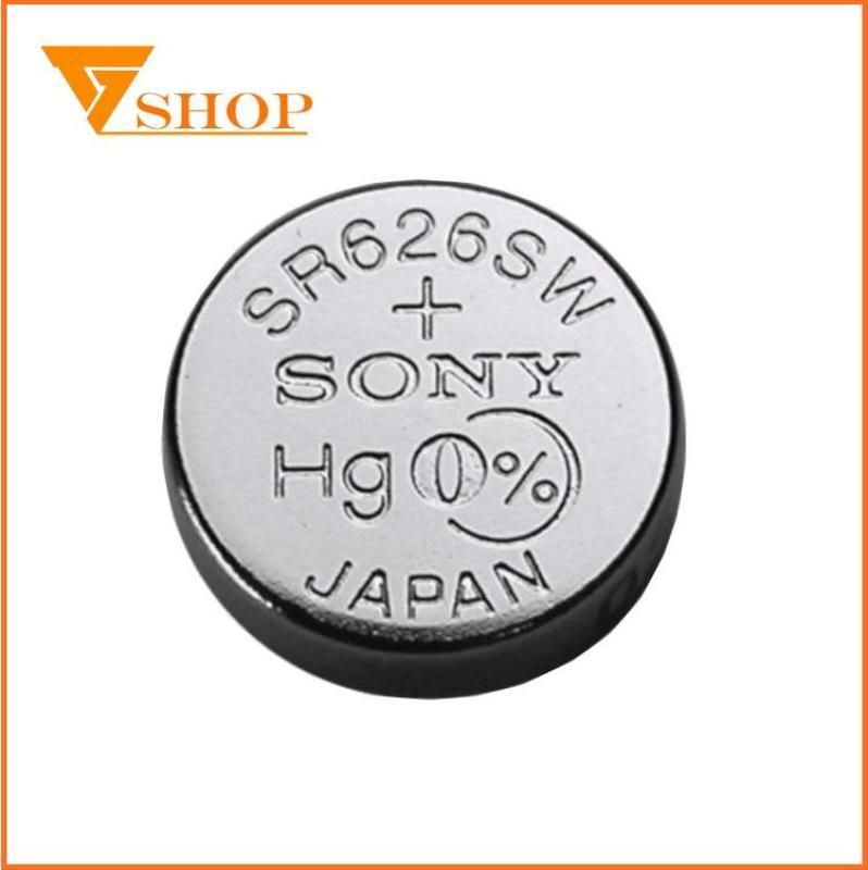 1 vỉ Pin đồng hồ SR626SW Sony1.55V, pin 377( 1 vỉ 1 viên )