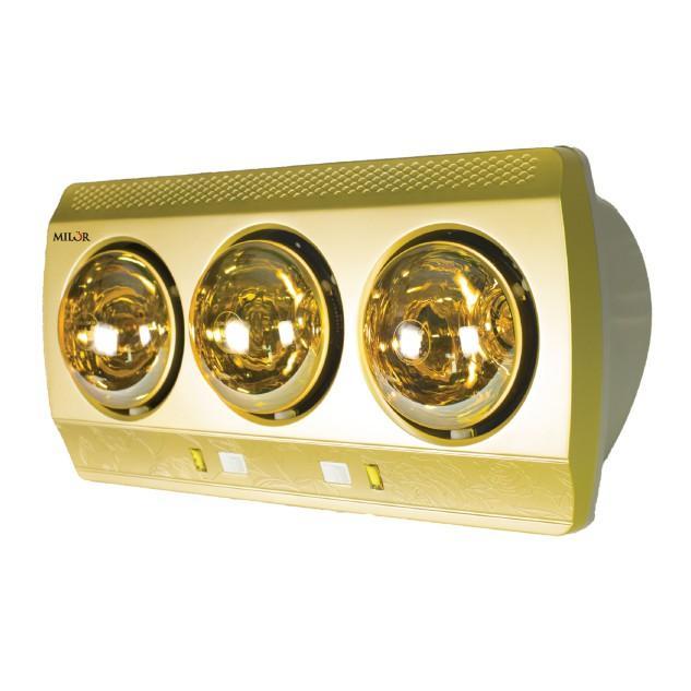 Hình ảnh Đèn sưởi nhà tắm 3 bóng màu ghi Milor ML 6003 Chất lượng cao
