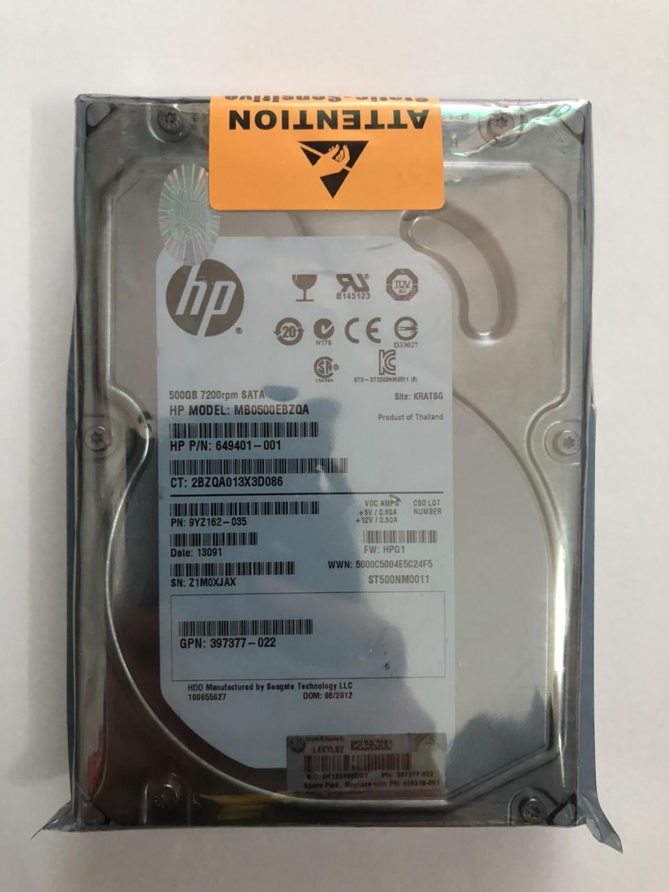 Hình ảnh Ổ cứng PC 500GB HP bảo hành 12 tháng + Tặng Cáp SATA