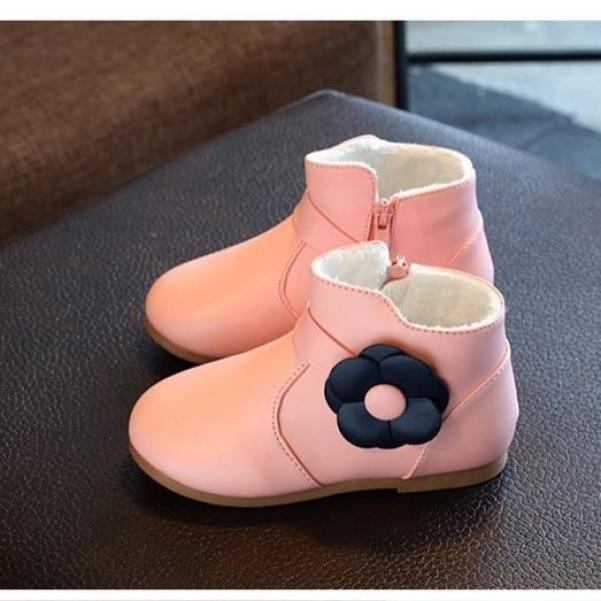 Giày bốt cho bé gái style Hàn Quốc (Hồng) giá rẻ