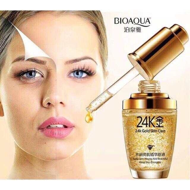 Serum dưỡng da vàng 24k Bioaqua Nhật Bản