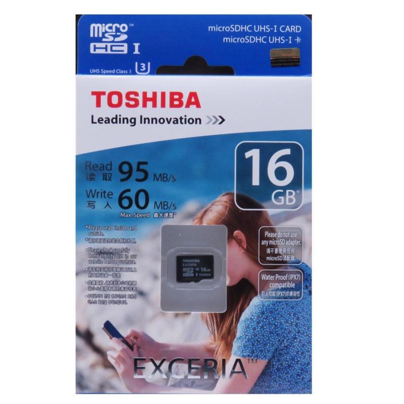 Thẻ nhớ MicroSDHC Toshiba Exceria U3 16GB 95MB/s (Đen)