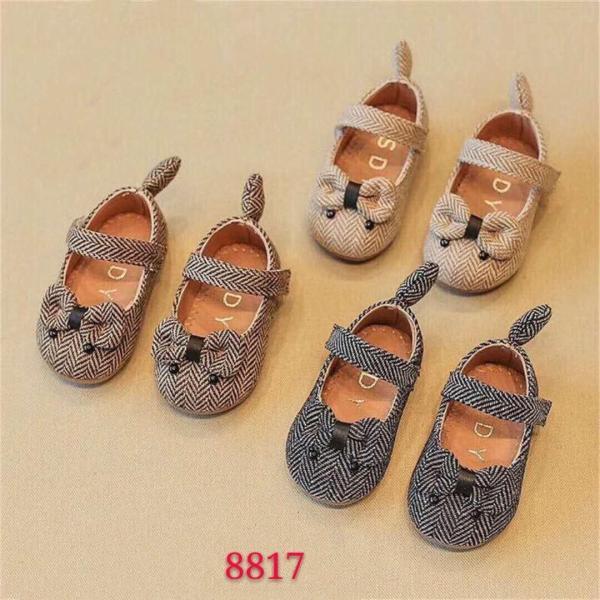Giá bán [SenXanh] Giày vân kẻ hình con chuột cho bé gái siêu xinh