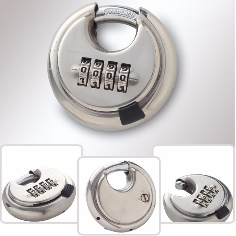 Khóa số chống cắt hình tròn loại 4 mã số YB01 vỏ inox cao cấp