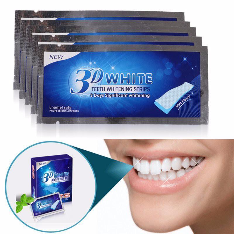 6 gói -12 Miếng dán trắng răng 3d an toàn dưỡng trắng răng nhanh chóng tại nhà giá rẻ