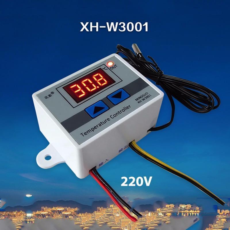 Công tắc cảm biến (sensor) nhiệt độ W3001- đầu vào ra 220V (Loại cảm biến rời có thể ngâm trong nước)
