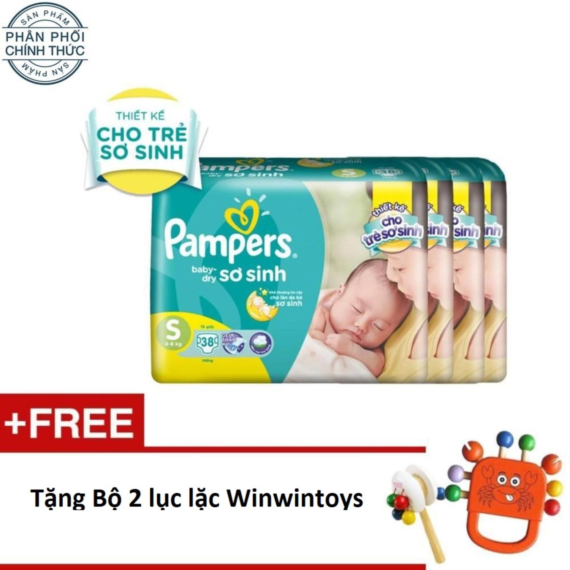Cửa Hàng Bộ 4 Goi Ta Dan Pampers Baby Dry Size S 38 Miếng Tặng Bộ 2 Lục Lặc Winwintoys Ngẫu Nhien Trị Gia 120 000 Vnd Pampers Trong Vietnam