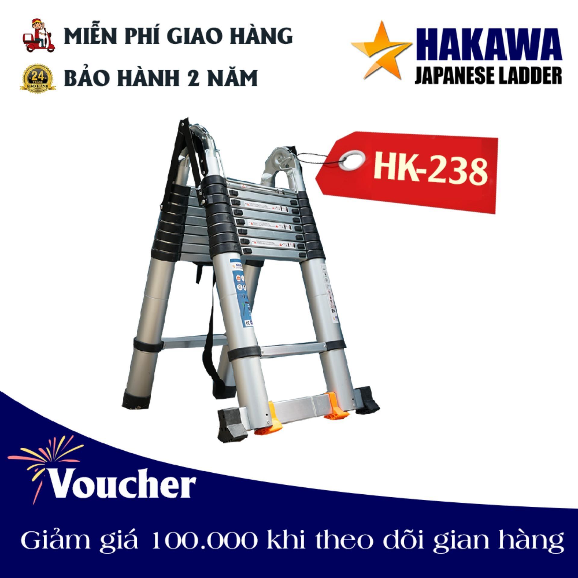 [CHĨNH HÃNG] Thang nhom rut chu a HAKAWA HK238 - BẢO HÀNH 2 NĂM, BAO ĐỔI 30 NGÀY NẾU LỖI KỸ THUẬT