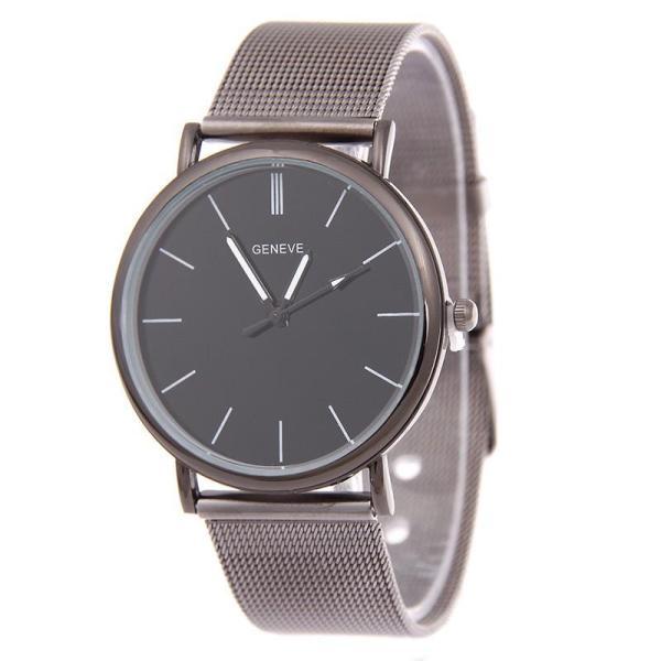 Đồng hồ nam dây hợp kim Geneve G003-3 (Đen xám)