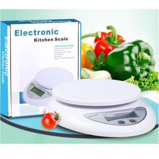 Cân tiểu ly thực phẩm điện tử 5kg cho nhà bếp (Trắng) - Tặng Kèm Pin thumbnail
