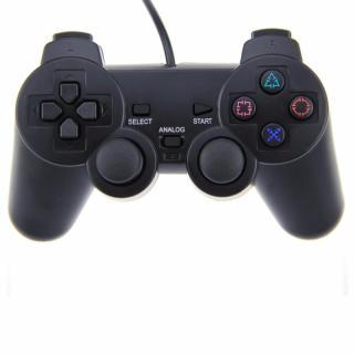 Tay cầm chơi game dùng cho máy PlayStation 2 , Tay cầm chơi game cho máy PlayStation 1, PlayStation 2 - Tay cầm chơi game có dây cho máy PS1, PS2 thumbnail