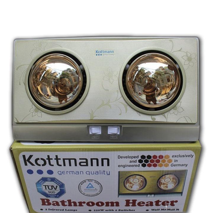 Đèn sưởi nhà tắm 2 bóng kottmann (công nghệ đức)