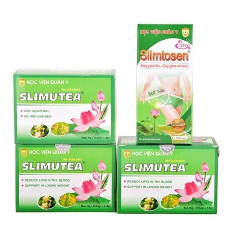 Liệu trình Slimtosen Extra và 3 trà sen Slimutea cao cấp