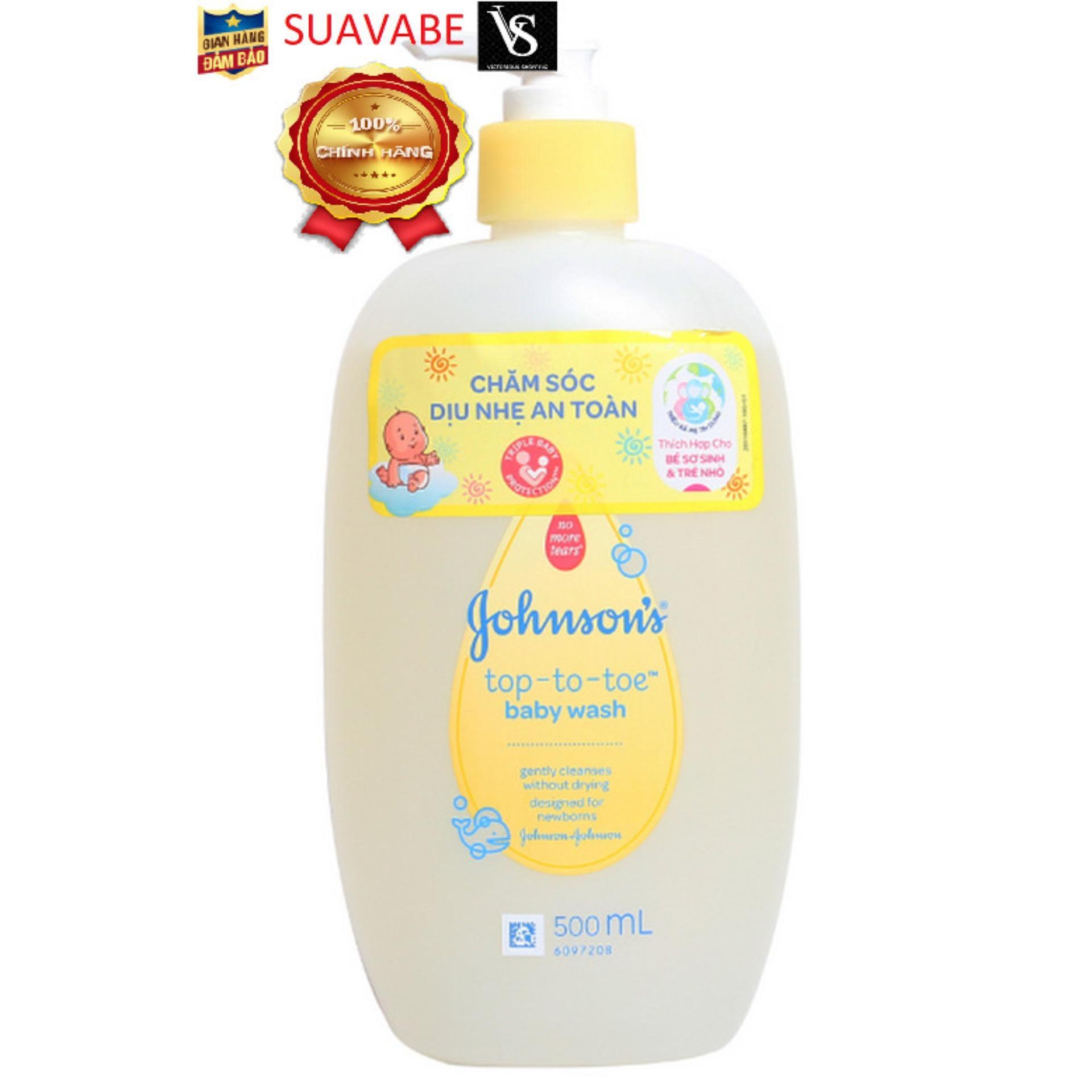 Sữa tắm gội toàn thân Johnson's baby 500ml