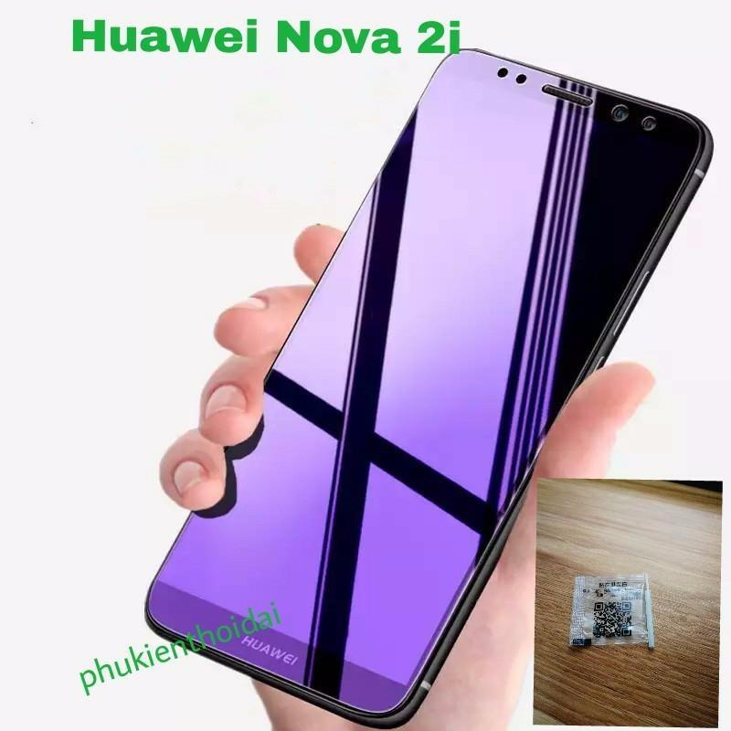 Hình ảnh Huawei Nova 2i kính cường lực tím chống tia xanh hại mắt không full màn (tặng keo chống hở mép )
