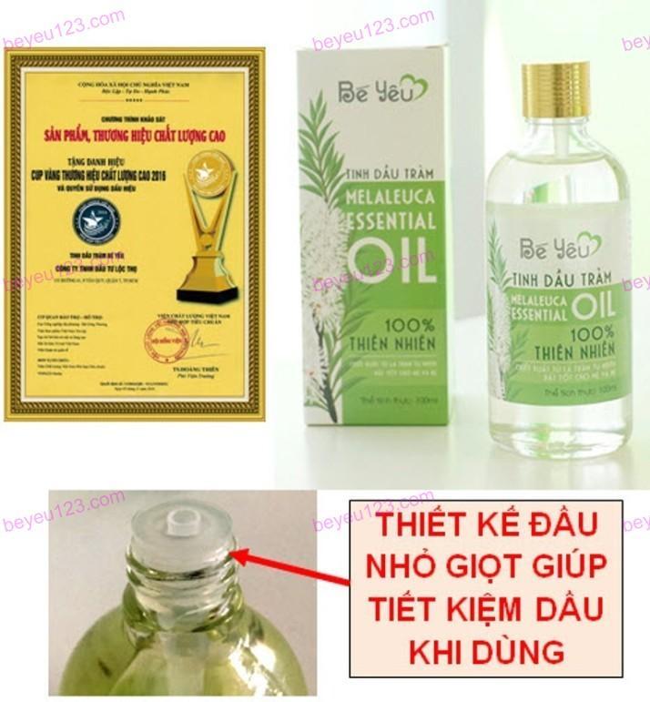 Tinh dầu tràm Bé Yêu 100ml (Huế) (Cúp vàng thương hiệu chất lượng cao)