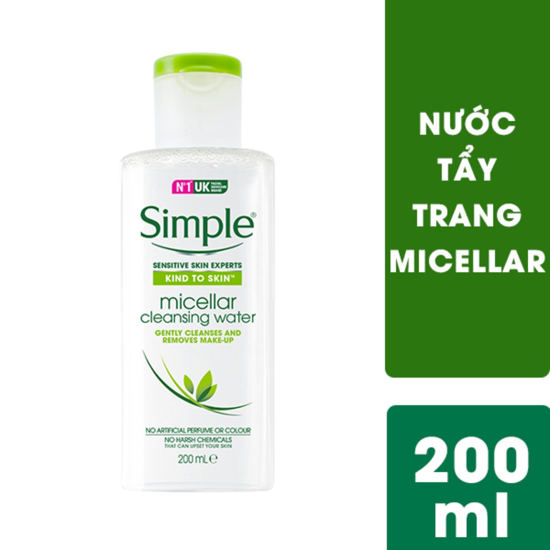 Nước tẩy trang Micellar Simple 200ml