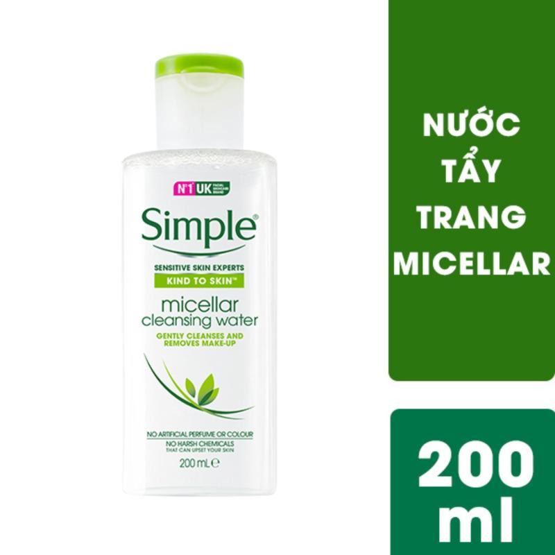 Nước tẩy trang Micellar Simple 200ml nhập khẩu
