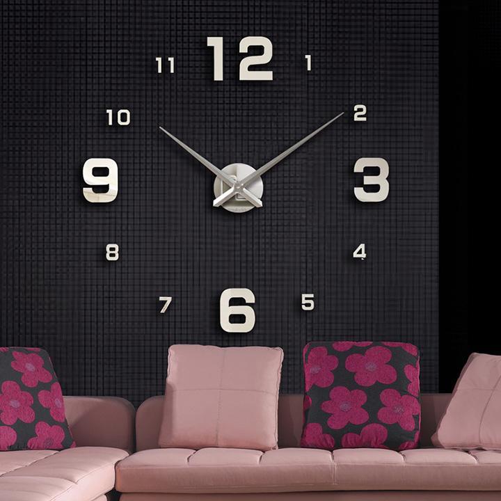 Nơi bán Đồng hồ treo tường trang trí 3D - Số Lớn Nhỏ