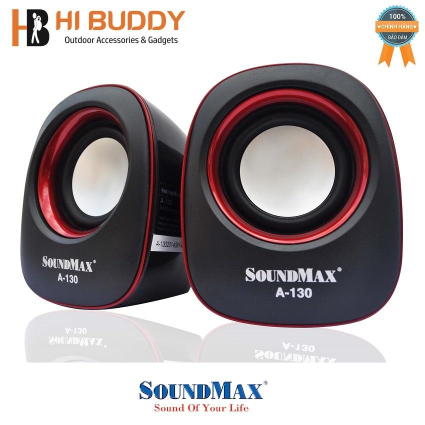 Loa vi tính Soundmax A-130/2.0 6W RMS (Đỏ)