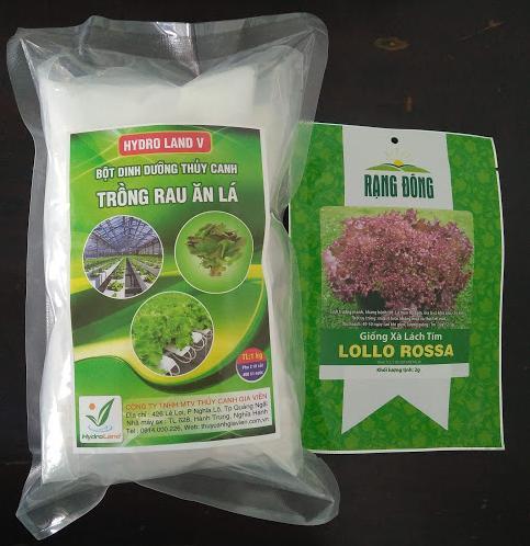 Dinh dưỡng thủy canh dạng bột HYDRO LAND V + tặng kèm 1 gói hạt giống