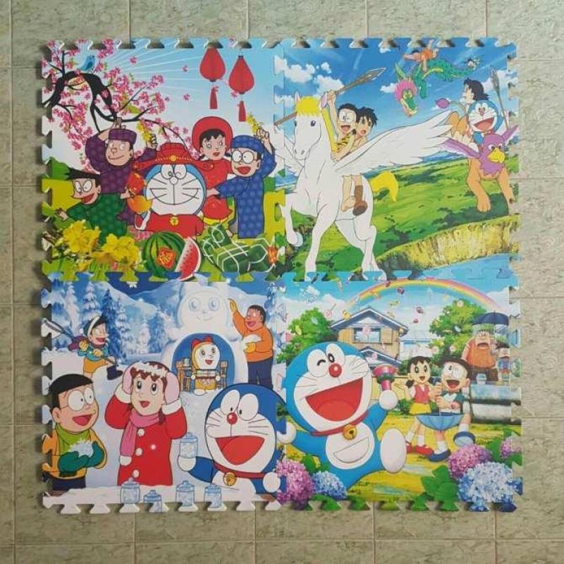 Thảm xốp ghép 2 mặt Âu Lạc (60x60) Nhiều hình cho bé 4 tấm