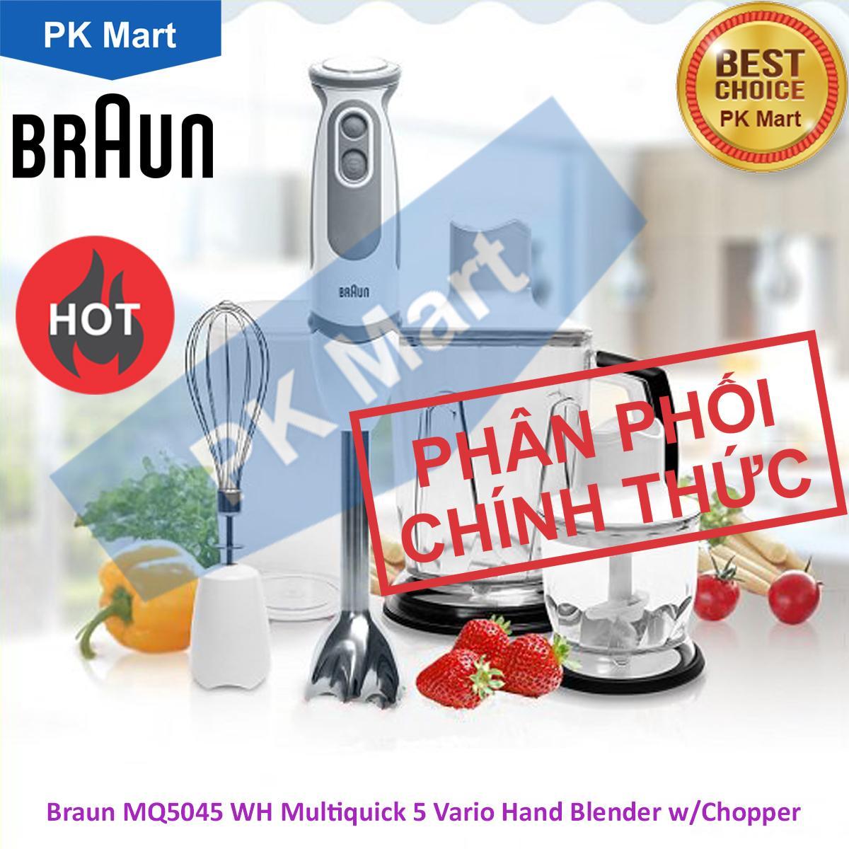 Máy xay sinh tố cầm tay cao cấp Braun MQ5045 (Trắng) - Hàng chính hãng (Bảo hành 2 năm chính hãng Braun)