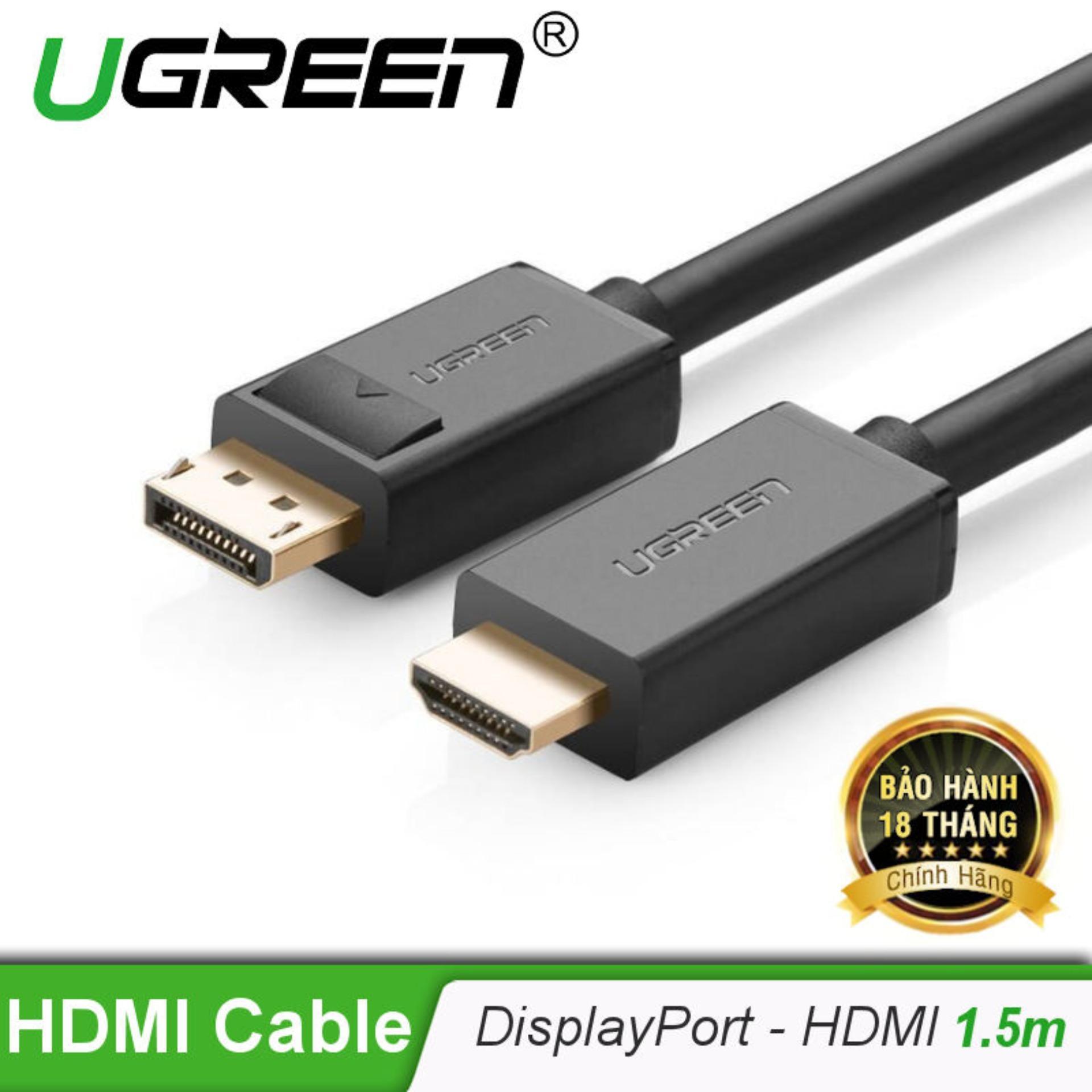 [mới] Cáp Chuyển đổi Displayport Sang Hdmi 1080p Dài 1.5m Dp101 10239 (màu đen). By Best Store For Your Choice.