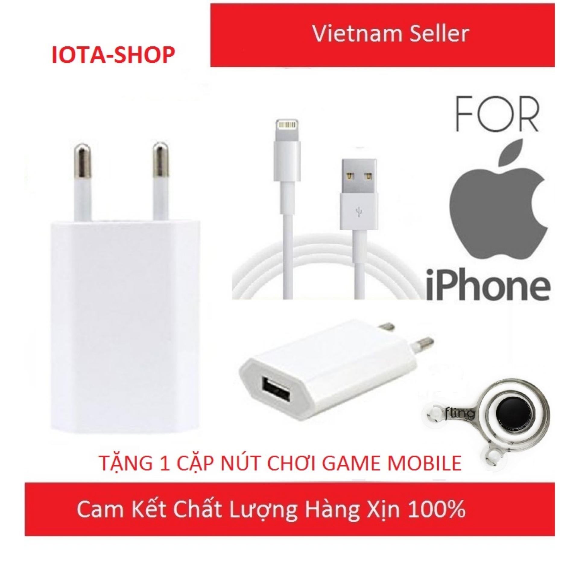 Bộ Cốc Và Cáp Sạc Dẹt Zin Theo Máy Iphone 6-7, 6-7Plus