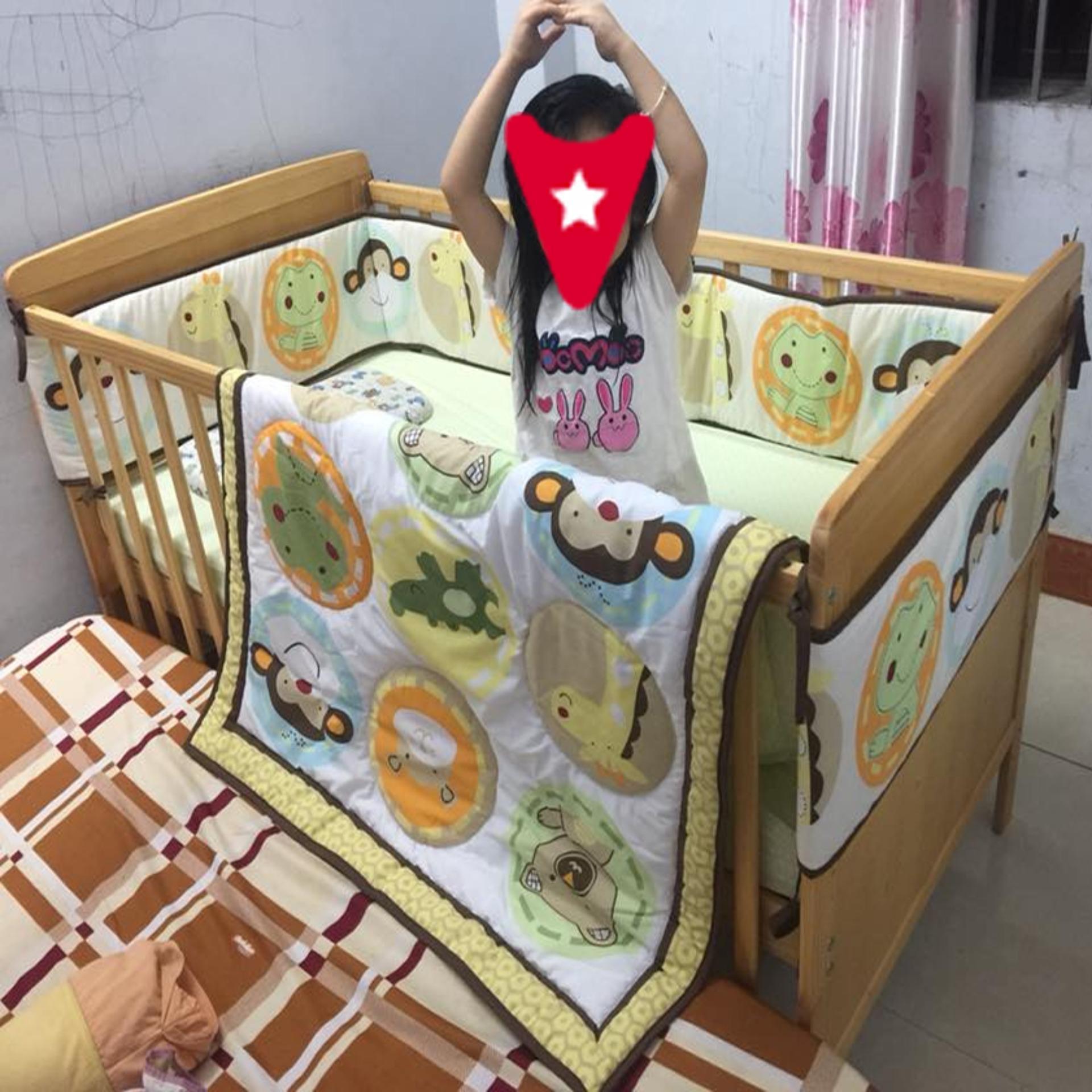 Cũi trẻ em 3 trong 1 Marlow màu gỗ tự nhiên - Mẹ Vì Bé Nhật Bản