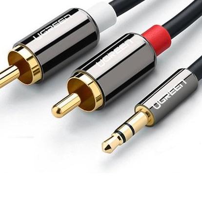 Bảng giá Dây Audio 3,5mm ra 2 đầu RCA (Hoa sen) dài 1,5M UGREEN AV116 10583 (màu đen) Điện máy Pico