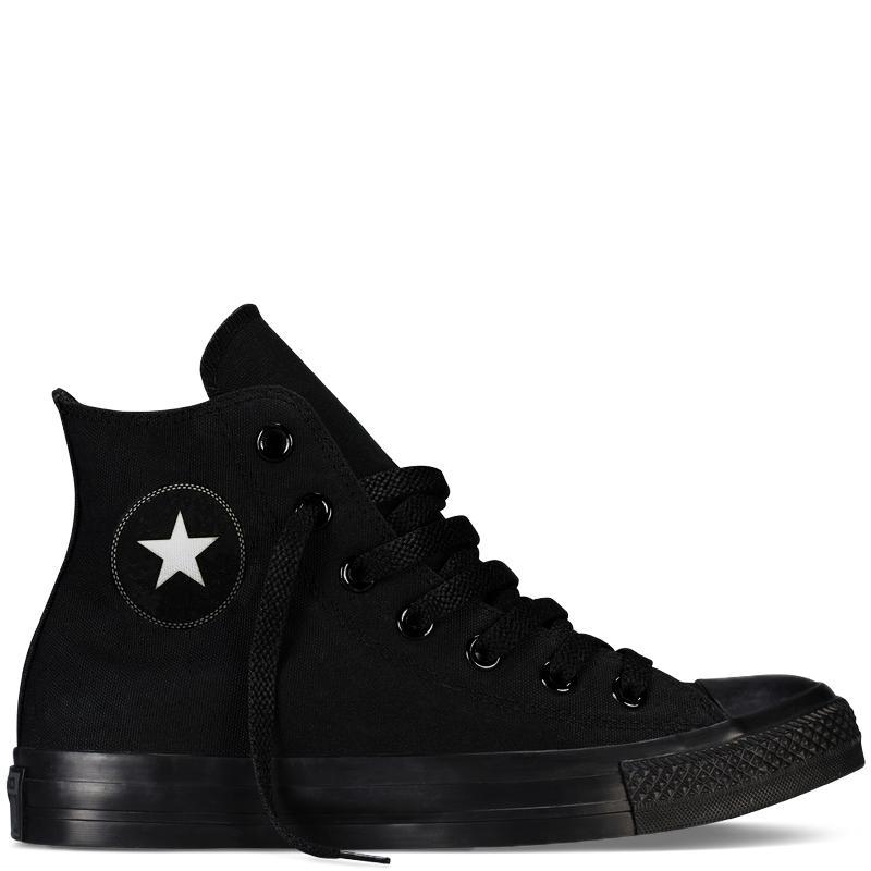 Giày Sneaker CV Nam Cổ Cao Màu Full Đen