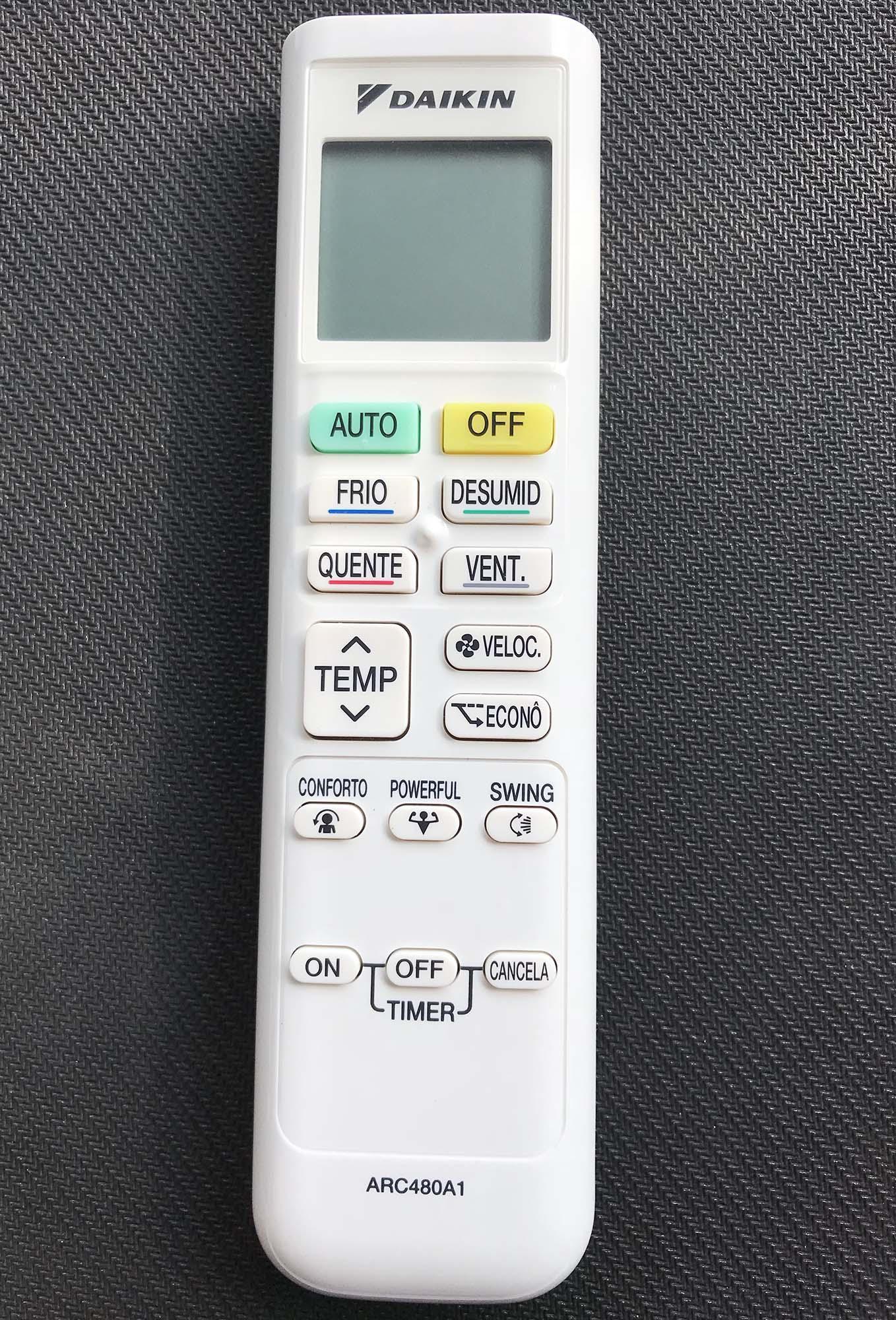 Điều khiển điều hòa Daikin lnverter 2 chiều xịn (trắng)