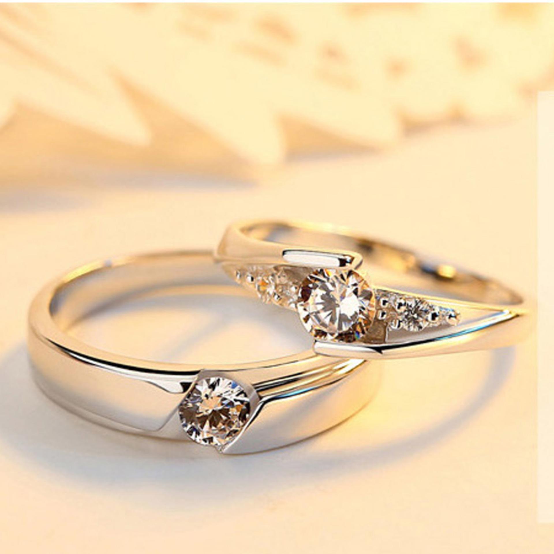 Voucher tại Lazada cho Nhẫn đôi Nhẫn Cặp đính đá Lấp Lánh Thời Trang Tình Yêu  Lãng Mạn Quà Tặng Hộp Trang Sức Chất Lượng Cao Cấp Giá Sỉ SPR-JZ090
