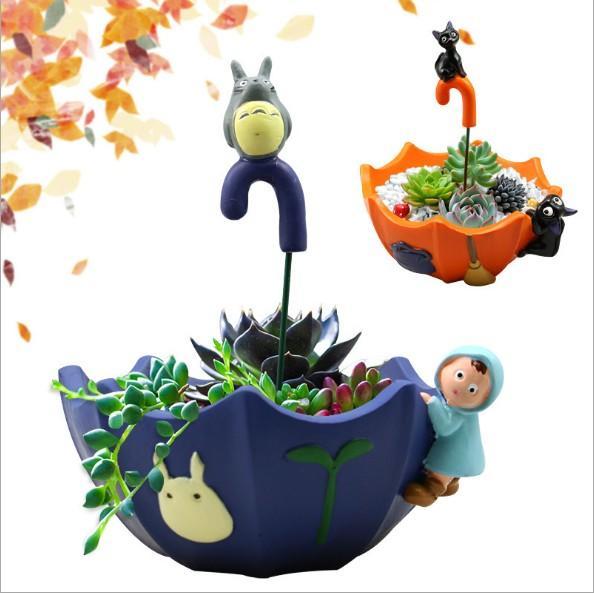 Hình ảnh Mẫu Chậu Bonsai DIY Totoro Màu Xanh Lam (Chỉ Chậu - Không Kèm Cây Và Sỏi) (SMD-25.1)